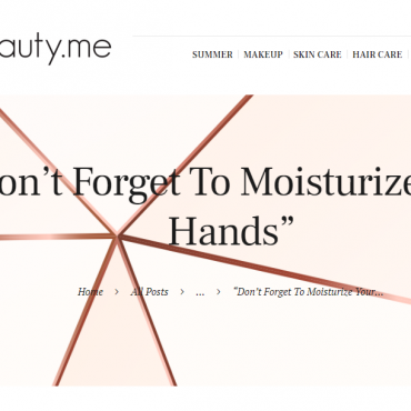 Don't Forget To Moisturize Your Hands