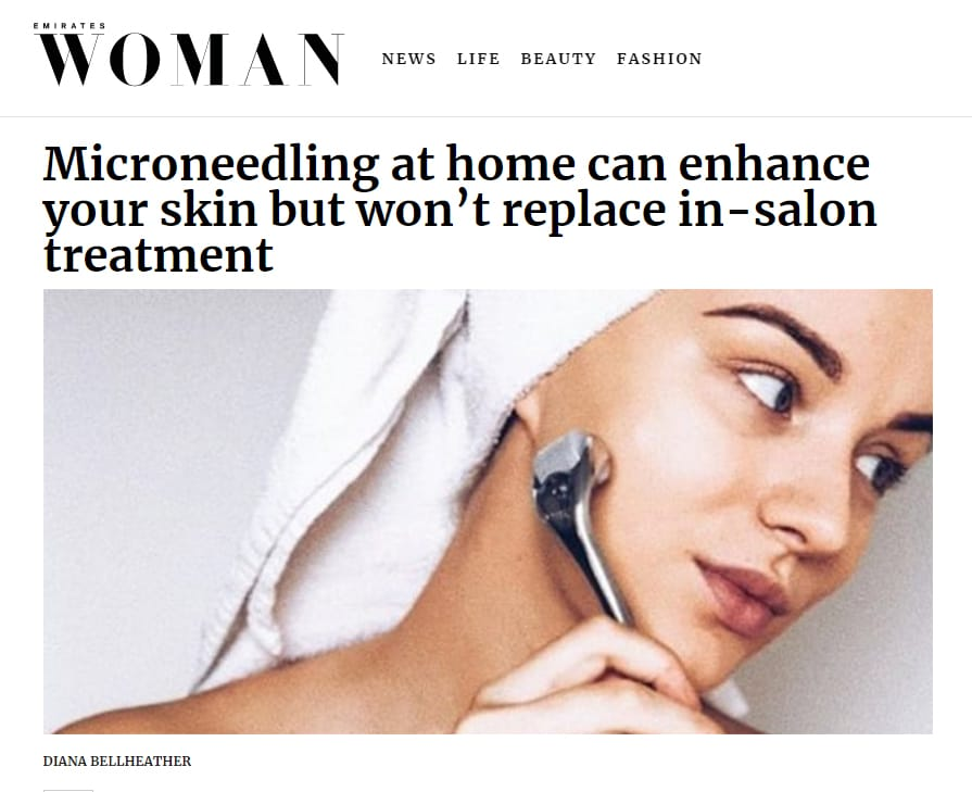 Microneedling at home can enhance your skin but won't replace in-salon treatment