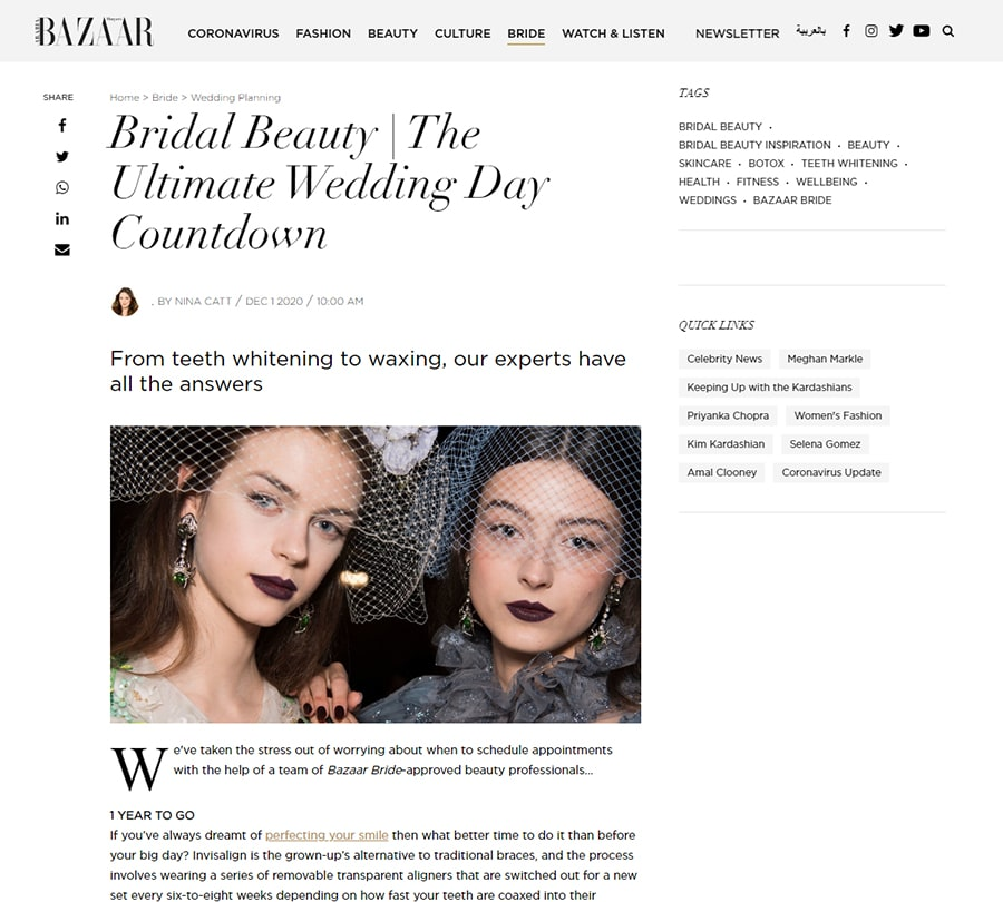 Bridal Beauty | The Ultimate Wedding Day Countdown